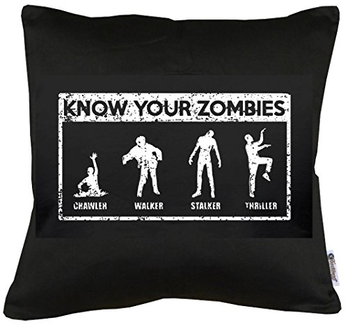 TShirt-People Know Your Zombies - Cojín con Relleno (40 x 40 cm)