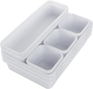 STARVAST 24 Pièces Organisateur de Tiroir Bureau, Séparateurs de Tiroir Cuisine Plastique avec 3 Tailles Plateaux de Range...