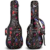 CAHAYA Bolsa Guitarra Electrica Funda para Guitarra Electrica Acolchada de 6mm con 2 Bolsillos para Libros de Música y Accesorios 3 Formas de Transporte Diseño Unico de Rosa