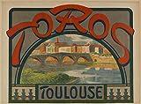 Toulouse Toros Poster, Reproduktion, Format 50 x 70 cm,