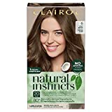 Clairol Natural Instincts Semi-Permanent Hair Color, 6 Light Brown, 1 Count