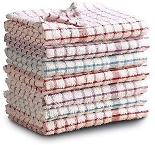 JD beddengoed 100% katoen hoge absorberende Jumbo Pack thee handdoek zachte keuken schotel handdoeken Set Quick Dry Check Design