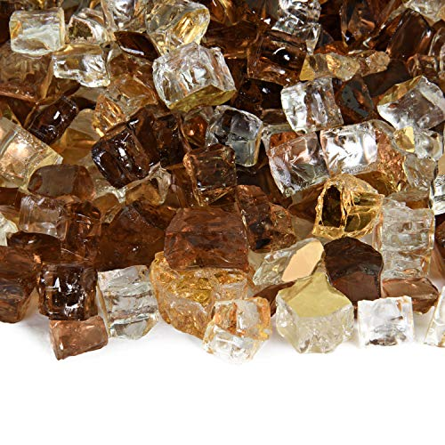 Dakota - Fire Glass Blend for Indoor and Outdoor Fire Pits or Fireplaces   10 Pounds   1/2 Inch