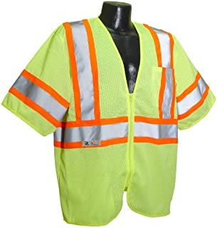 Green Safety Flag C2ANSI-GN-2XL//3XL Class 2 Safety Vest 2X-Large//3X-Large