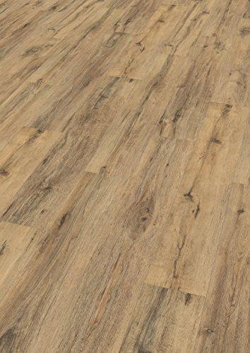 EGGER Home Designboden braun - Eiche massiv rauch EHD007 (5mm kompakt, 1,989 m²) Klick Design Laminat robust, strapazierfähig, pflegeleicht, wasserfest und PVC frei