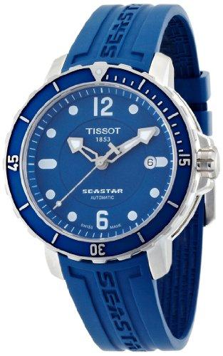 Tissot Herren-Armbanduhr Seastar 1000 Auto Kautschuck T0664071704700