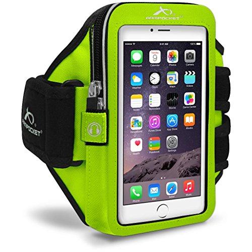Armpocket® Mega i-40 Plus Armband für iPhone 6S Plus, Samsung Galaxy Note 4, mit großer Hülle, oder vergleichbar große Telefone bis 178 mm Höhe