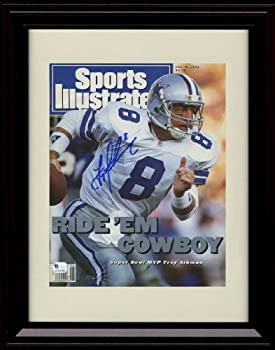 Framed Troy Aikman Sports Illustrated Autograph Replica Print