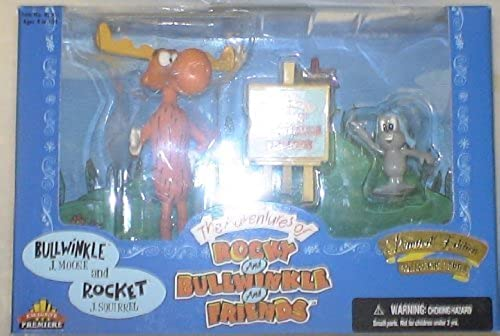Rocky & Bullwinkle & Friends BULLWINKLE and ROCKET BOXED SET by Exclusive Premiere by Exclusive Premiere