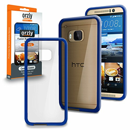 Orzly® - HTC ONE M9 - Fusion Gel Hard Case BLAU Phone Cover Skin Stark Hülle für NEU 2015 Modell HTC ONE M9 Smartphone/Mobille Handy