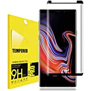 for Galaxy Note 9 Tempered Glass Screen Protector,Lostep[Full Coverage][9H Hardness][Anti-Scratch][Bubble-Free][Easy Install] Tempered Glass Screen Protector for Samsung Galaxy Note9(Black)