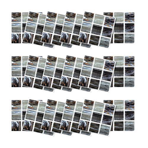 UKtrade Home Renovation Abstract Patroon Zelfklevende Muursticker DIY Room Muursticker Crystal Blue Mozaïek Stickers Tegel Spiegel Zelfklevende Kamer Badkamer Home Decor Appartement Dorm 18 STKS 10×10cm