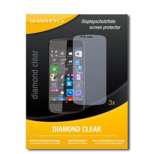 SWIDO 3 x Schutzfolie Archos 50 Cesium Bildschirmschutz Folie DiamondClear unsichtbar