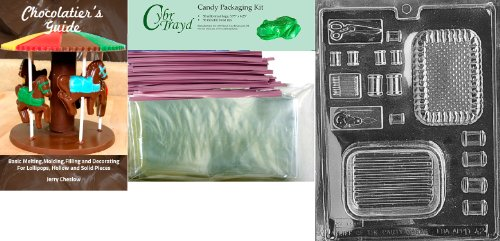 """Why Should You Buy Cybrtrayd Mdk50PKBk-D042″Sewing Kit Pour Box Moms"""" Chocolate Candy Mold with Bundle of 50 Cello Bags, 50 Pink Twist Ties and Chocolatier's Guide"""