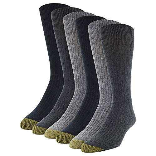 Gold Toe Herren Stanton Crew Socken 6 Paar - mehrfarbig -