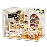 Sliveal DIY Puppenhaus Miniatur Kit Kuchentagebuch Beleuchtet Exquisit Und Wunderschön Geeignet...