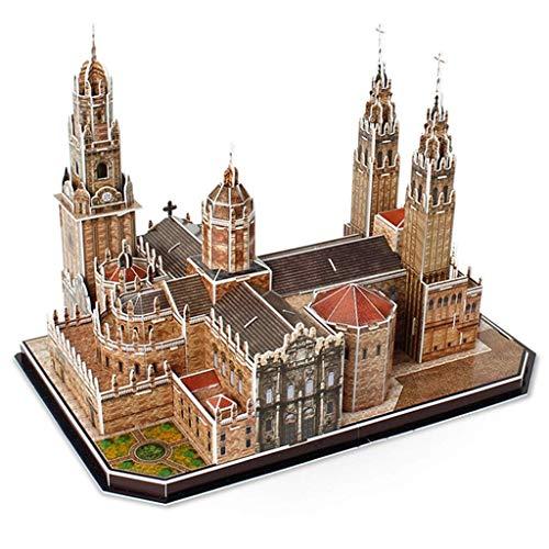 JJSFJH Spanisch De Compostela Dombau Modell Lernspielzeug Erwachsenen Lässige Paper Puzzle