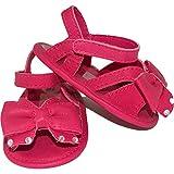 MINIBANDA Zapatos sandalia para recién nacidos, fucsia G954 Size: 16 EU