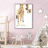 Cuadro En Lienzo Cute Giraffe Living Room HD Print Canvas Oil Painting Home Decor60x80cmPintura sin Marco