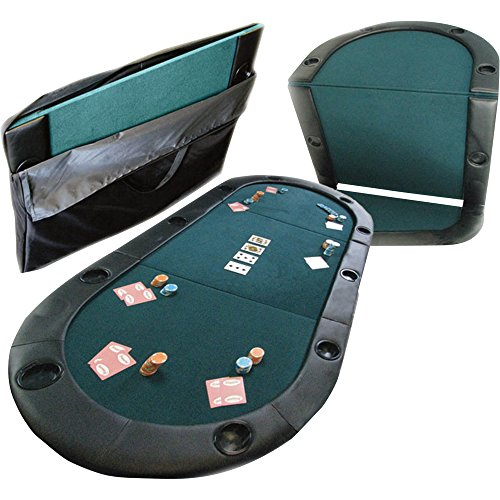 Trademark Texas Hold'em Poker Padded Table Top with Cupholders