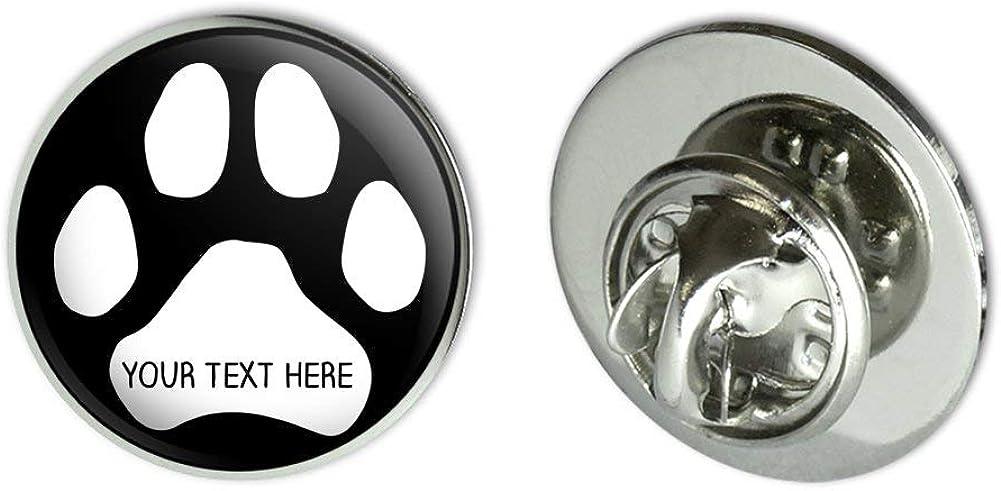 GRAPHICS & MORE Personalized Custom Paw Print 1 Line Metal 0.75