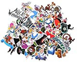 Supersenter Cartoon Movie Themed Alice in Wonderland 60 Piece Sticker Decal Set for Kids Adults - Laptop Motorcycle Skateboard Patch Decals