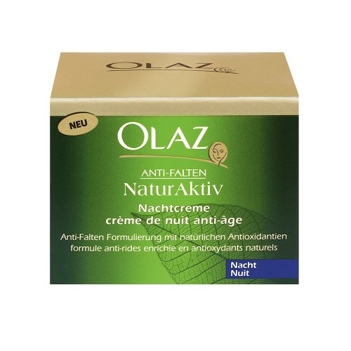Olaz Anti-Ageing-Pflege Anti-Falten NatureFusion Nachtcreme, 50ml Tiegel
