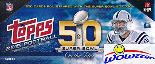 2015 Topps Football VERY SPECIAL LIMITED EDITION 50th SUPER BOWL Complete 500 Card Factory Set! Every Card has EXCLUSIVE 50th Super Bowl Logo! Loaded with RC's Jameis Winston, Marcus Mariota & More!