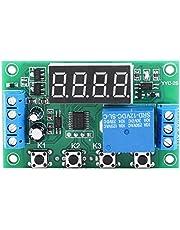 Temporizador Relé Ajustable Automatización Interruptor de control Módulo Pantalla LED(12V)