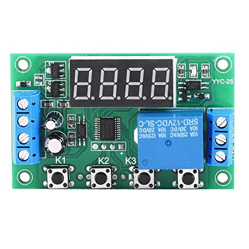Retardo Digital de 5V/12V/24V, Módulo de Relé Temporizador, Interruptor de Control del Temporizador, Interruptor de Relé de Automatización, Para Válvula Solenoide, Motor de Bomba de Agua(12V)