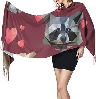 Valentine Pattern With Red Panda Raccoon Hearts Shawl Wraps For Women Wrap Or Shawl Shawl Wrap Women 77