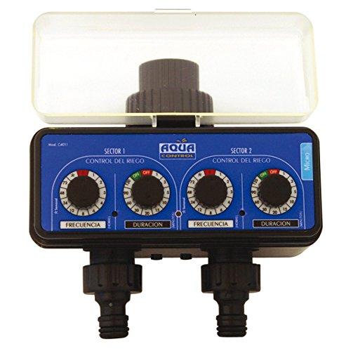 Aqua Control C4011 - Programador de Riego para Jardín - Para todo tipo de Grifos - Con 2 salidas independientes