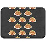 Liumt Spaghetti Italian Food Türmatte Anti-Rutsch-Innen- / Außen- / Vordertürmatte Badezimmer Küchenmatte Home Decor Area Rug