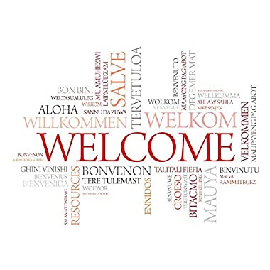 Wallmonkeys Word Cloud Welcome Different Wall Decal Peel and Stick Graphic (24 in W x 18 in H) WM157218