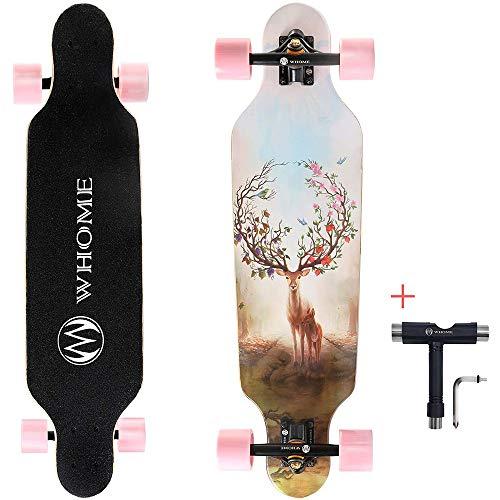 AOEIUV Skateboard, 31 x 8.25 Zoll Komplette Pro Skateboards, 8-lagiges Alpines Hardrock-Ahornholz Longboard Carving Cruising Skateboard Entwurf für Teenager, Anfänger, Mädchen, Jungen,Style a