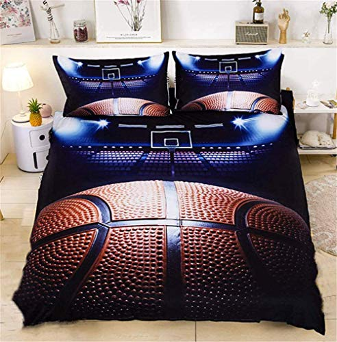 Boys Men Duvet Cover Teenagers Cool Design Football Bedding Kids Duvet Cover Reversible Printed Cover Quilt Cover with Pillowcase King Size 3 Pieces,A180x220cm