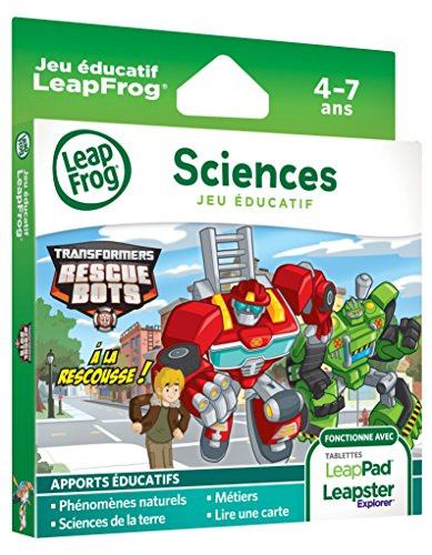 LeapFrog - 82013 - Jeu Electronique - Leappad / Leapster - Transformers Rescue Bots