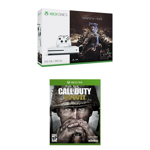 Xbox One S 500GB Shadow of War Bundle + Call of Duty: WWII