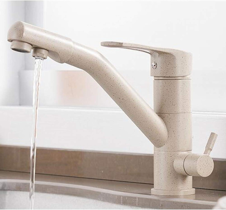 YHSGY Küchenarmatur Küche Reinigen Chrom-Mischer-Mischbatterie 360-Grad-Drehung Mit Wasseraufbereitung Eigenschaften Mischer-Kran