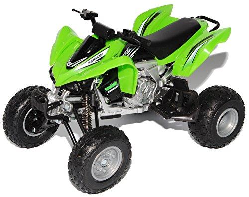 New Ray Kawasaki KFX 450R Grün Quad 2012 1/12 Modell Motorrad mit individiuellem Wunschkennzeichen