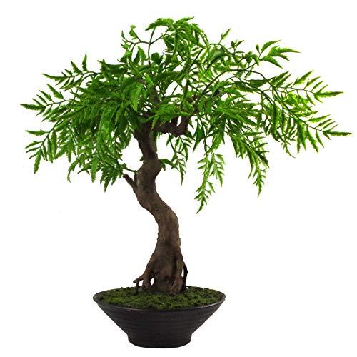 Leaf Hoja de 45 cm Artificial Bonsai árbol, Torcido Ficus Bosai