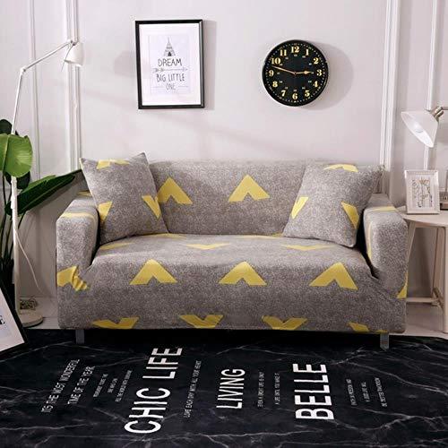 EMOHKCAB Effen kleur Polyester Sofa Cover Hoge Elasticiteit Antislip Bank Hoes Universele Meubels Stoel Protector Cover, Bever, enkele stoel
