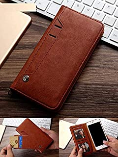 ClickCase™ for Oppo F3 Plus + Flipper Series Leather Wallet Flip Case Kick Stand with Magnetic Closure Flip Cover for Oppo F3 Plus + (Brown)