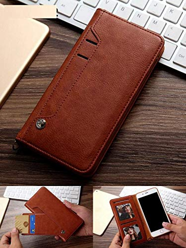 ClickCaseTM for Huawei P20 Lite Flipper Series Leather Wallet Flip Case Kick...