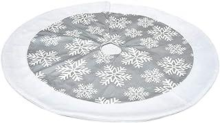 75cm HOHOTIME Jupe darbre de No/ël Jupe darbre de Jute Noire avec Couverture de Base de Pied darbre de Flocons de Neige Blancs pour la D/écoration darbre de No/ël