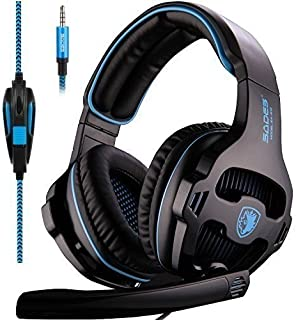 SADES SA810 Stereo Gaming Headset for Xbox One PC PS4 Over-Ear Headphones with Noise Canceling Mic Soft Ear Cushion 3.5mm ...