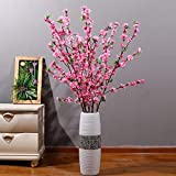 MUGBGGYUE Flores artificiales, ramo de flores de melocotón, decoración de flores realistas de plástico, decoración de bodas, centros de mesa, decoración de bricolaje (rosa)