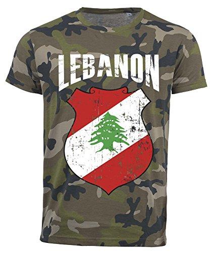 Aprom-Sports Camiseta con diseño de Camuflaje del Mundial 2018, con Escudo D01