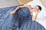 Weighted Blanket 12 lbs 48 x72 inch for Kids or Adult, Twin/Full Size Cutton Blanket,Premium Microfiber and Glass Beads Fill, Premium Cotton Heavy Blanket