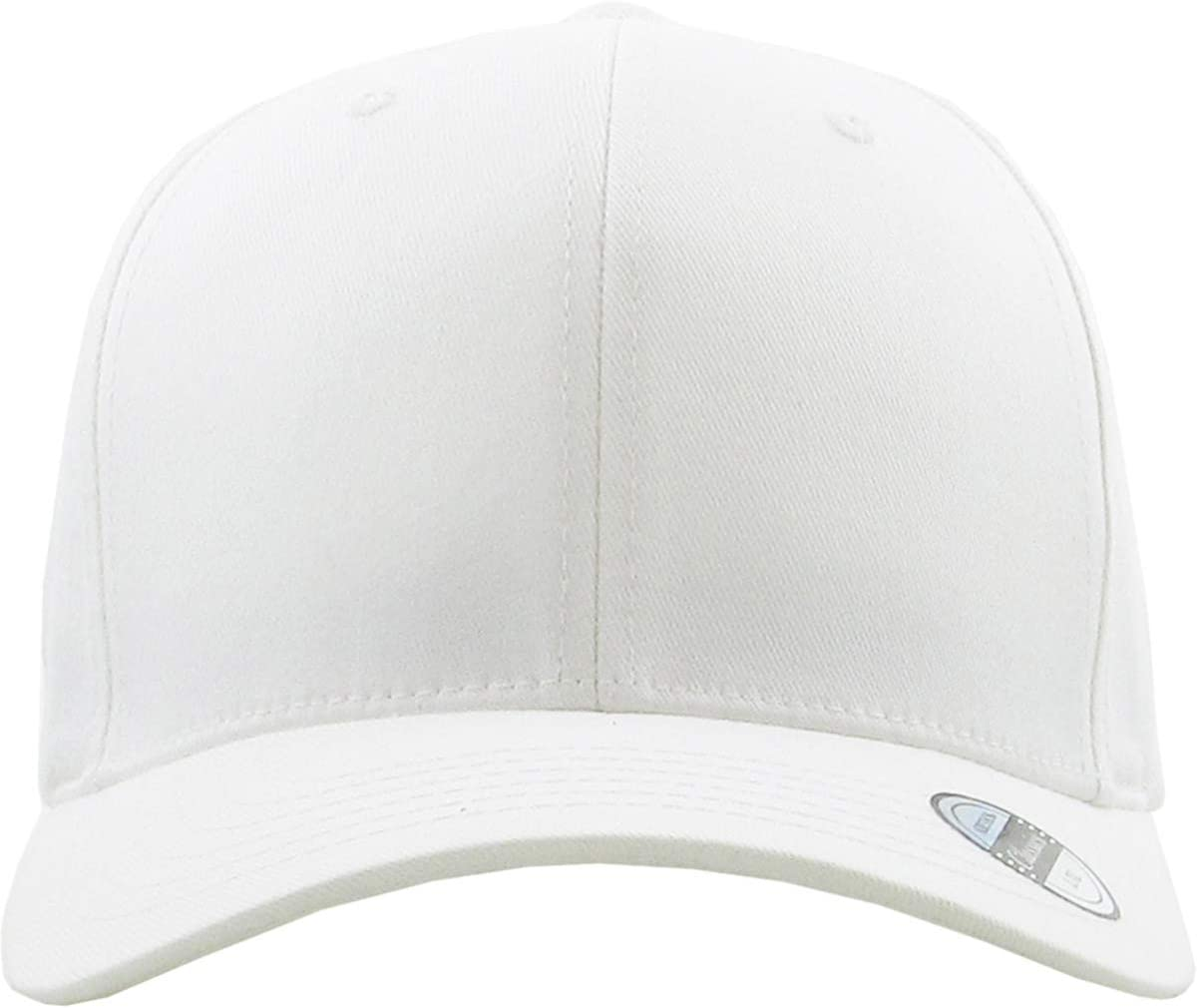 S M White A surprise price is realized Blank Stretch Finally resale start Cotton Headband Twill Hat Fitted Spandex